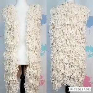 QED LONDON Shaggy Faux Sweater Vest - Women's M/L